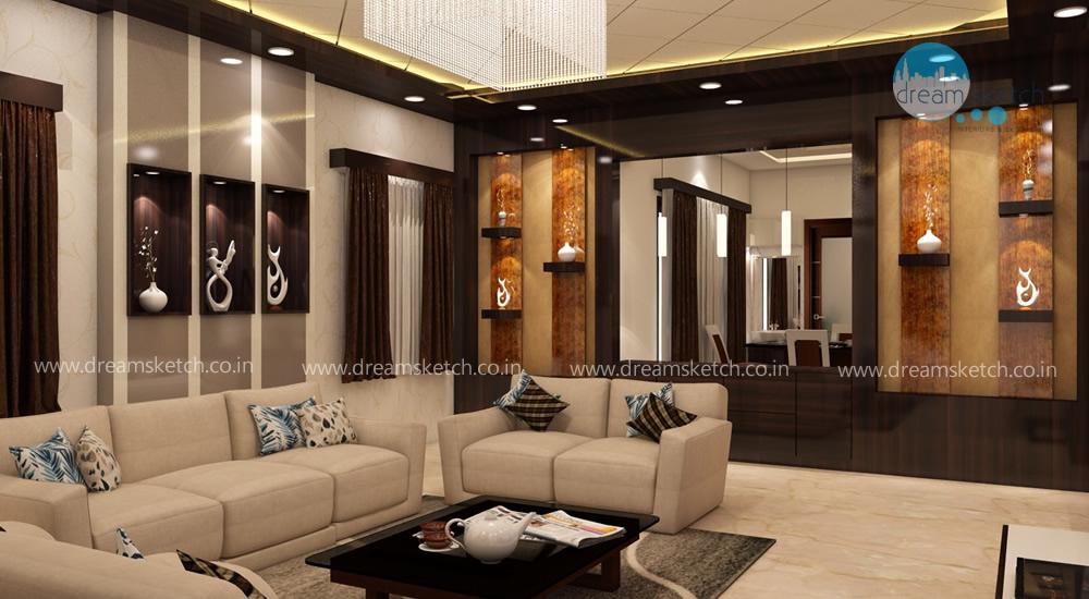 3D Models-Living Room View2